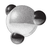 Molecule sign with dotwork gradient Royalty Free Stock Photos