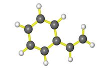 A molecule of styrene Stock Photo
