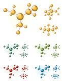 Molecule symbols Royalty Free Stock Photography