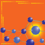 Molecule technology background Stock Photography