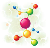 Molecule tree. And color circle Stock Images