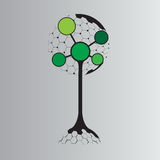 Molecule tree logo concept design. Biotechnology concept with tree and molecule connection Royalty Free Stock Photography
