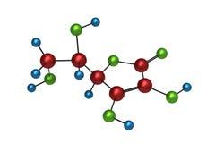 Molecule van Vitamine C Stock Fotografie