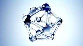 Molecule van water 3d illustratie over blauwe achtergrond het 3d teruggeven vector illustratie