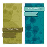 Molecule vertical banners. Stock Photo