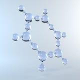 Molecule of Water. 3d render Stock Images