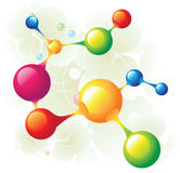 Molecule13. Molecule 13 and color circle Royalty Free Stock Images