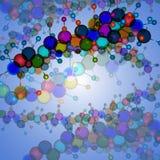 Moleculedna.abstract achtergrond Stock Afbeelding
