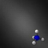 Moleculemodel op een achtergrond van het gradiëntnetwerk stock illustratie