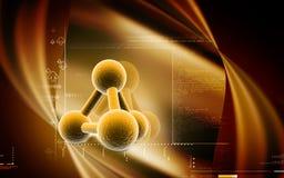 molecules Stock Foto's