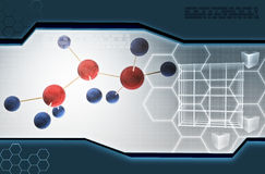 Molecules in abstract background Royalty Free Stock Photos