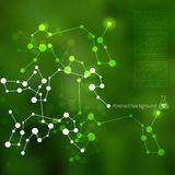 Molecules background Royalty Free Stock Images