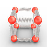 Molecules Bonding Stock Photo