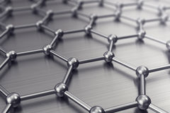 Molecules connected, crystallized in the hexagonal system. 3d illustration. Molecules connected, crystallized in the hexagonal system 3d illustration Stock Photography