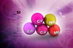 Molecules. 3d molecules in color background Royalty Free Stock Image