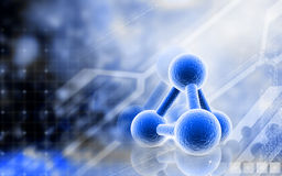 Molecules. Digital illustration of molecules in colour background vector illustration