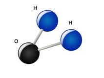 Molecules en atomen van water Royalty-vrije Stock Foto's