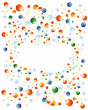 Molecules frame. Abstract  background with colorful molecules Stock Image