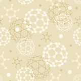 Molecules seamless pattern background Royalty Free Stock Photography