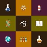 Molecules set icon Stock Images
