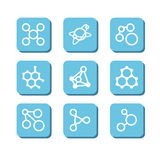 Molecules Royalty Free Stock Images