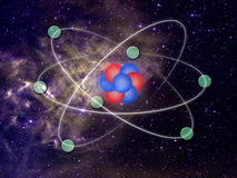 Molecules in solar system Stock Image