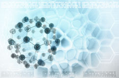 Molecules stylized abstract background Royalty Free Stock Images