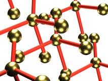 Molecules in vrije vlucht Stock Foto's