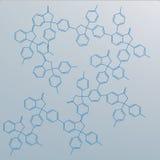 Moleculeswetenschap met grijze achtergrond Royalty-vrije Stock Foto
