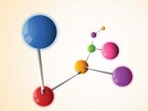 Molekül vektor abbildung