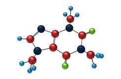 Molekül des Koffeins Stockfoto