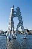 Molekül-Mann (Skulptur) Stockbilder