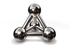 Molekül-Struktur-Chrom lizenzfreie abbildung