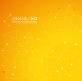 Molekül und Kommunikations-Hintergrund Stockfotografie