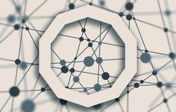 Molekül und Kommunikations-Hintergrund Lizenzfreies Stockfoto