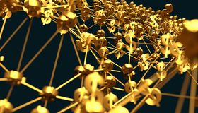 Molekül und Kommunikations-Hintergrund Hohe Auflösung 3D übertragen getrennt auf Weiß lizenzfreie abbildung