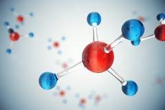Moleküle der Illustration 3D Atome bacgkround Medizinischer Hintergrund für Fahne oder Flieger Molekülstruktur am Atom Stockfotografie