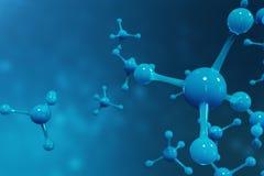 Moleküle der Wiedergabe 3D Atome bacgkround Medizinischer Hintergrund für Fahne oder Flieger Molekülstruktur am Atom Stockfotos