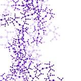 Molekülhintergrund, bunte Illustration Lizenzfreie Stockbilder