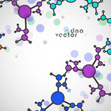 Molekülhintergrund, bunte Illustration Stockbilder