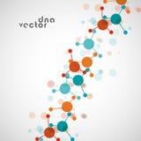 Molekülhintergrund, bunte Illustration Lizenzfreie Stockfotos
