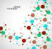 Molekülhintergrund, bunte Illustration Lizenzfreies Stockbild
