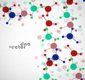 Molekülhintergrund, bunte Illustration Stockfotografie