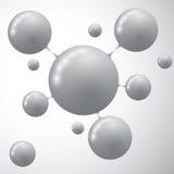 Molekülikonenvektor Moderne Schablone für Geschäft Lizenzfreies Stockfoto