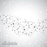 Molekülstruktur auf grauem Hintergrund Vektor Lizenzfreie Stockbilder