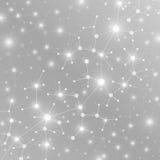 Molekülstruktur-DNA und Kommunikationshintergrund Verbundene Linien mit Punkten Konzept der Wissenschaft, Verbindung Stockbild