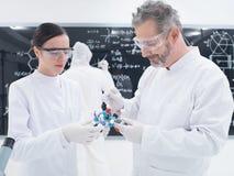 Molekülstrukturanalyse Stockfotografie