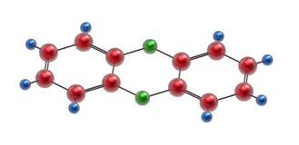 Molekuła dioxin Zdjęcia Stock