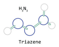 Molekuła H3N3 Triazene obraz royalty free