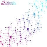 Molekuła i komunikacja z związanymi kropkami ilustracji